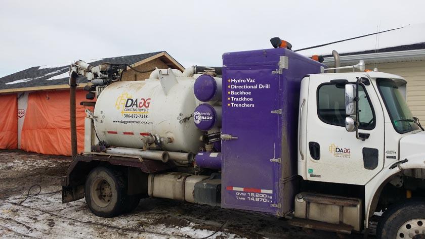 Hydro Vac Services  Dagg Construction -> Kuchnia Weglowa Hydro Vacuum